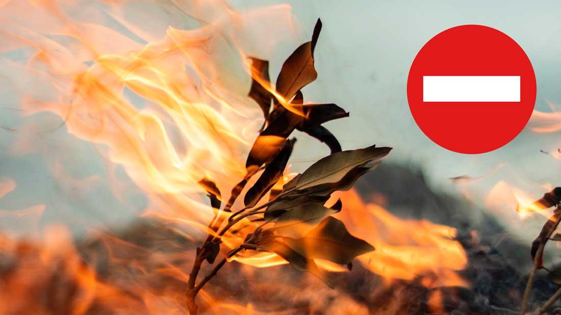 Interdiction de brûlage des déchets verts