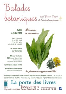 Balades botaniques avec Simon Pagès @ saint-sauvant